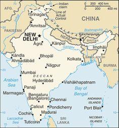 abcteach Printable Worksheet: Blackline Map of India | Exploring ...