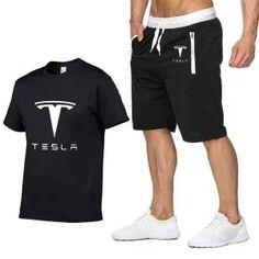 Hommes à manches courtes Tesla voiture Logo été hommes t-shirt Harajuku Hip Hop t-shirt haute qualité coton t-shirts shorts costume de sport Unisex Fashion, Mens Fashion, Harajuku, Suit Prices, Hip Hop, Short Suit, T Shirt And Shorts, Cheap T Shirts, Costume