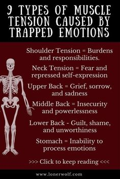 9 Types of Muscle Tension Caused by Trapped Emotions Do you struggle with chronic pain, fibromyalgia or constant anxiety and stress? Here is what your pain means. Health And Nutrition, Health And Wellness, Health Fitness, Health Tips, Stress And Health, Herbs For Health, Nutrition Education, Health Care, Sei He Ki