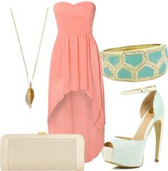 Coral and mint -- perfect color combination for a summer wedding