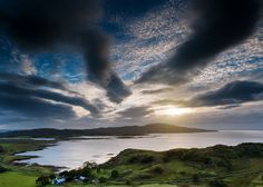 View to Ulva Ferry by gregheath, via Flickr Scottish Islands, Natural World, Scotland, Ireland, Sunrise, Composition, Clouds, Sky, Nature