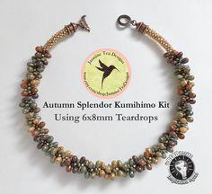 Autumn Splendor Using 6x8mm Five Color Luster Teardrop Beads