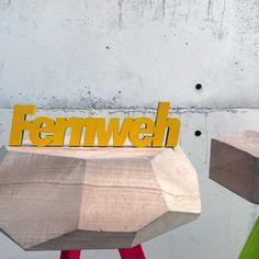 """3D Holz Schriftzug """"Fernweh"""" / 3d typo """"wanderlust"""", modern living by Nogallery 3d Schriftzüge via DaWanda.com"""