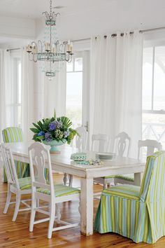 Tybee Island beach house dining perfection.