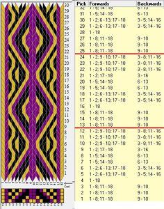 18 tarjetas, 3 colores, repite cada 12 movimientos // sed_936b diseñado en GTT༺❁