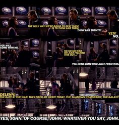 Yes John, whatever you say John. Sarcastic Delenn is the best Best Sci Fi Series, Babylon 5, Sci Fi Movies, Stargate, Criminal Minds, Big Bang Theory, Great Quotes, Movies And Tv Shows, Science Fiction