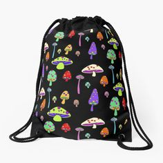 Things To Buy, Stuff To Buy, Drawstring Backpack, Stuffed Mushrooms, Backpacks, Shoulder, Bags, Printed, Awesome