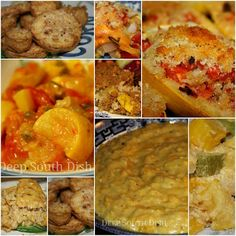 Stuffed, layered, in a casserole, in a dressing, creamed and even sliced and fried - so many wonderful ways to enjoy squash! Here are some of my favorites!