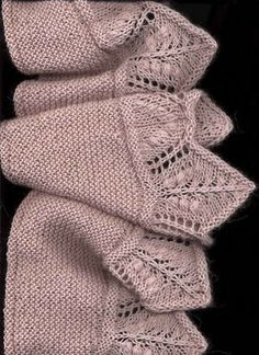 Baby Knitting Patterns, Shawl Patterns, Lace Knitting, Knitting Stitches, Knitting Designs, Knitted Shawls, Knitted Blankets, Crochet Scarves, Crochet Clothes