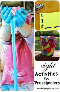 Preschool and early learning teachers will enjoy these 8 fun Activities for Preschoolers