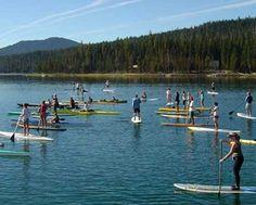 SUP lessons at Elk Lake in Central Oregon