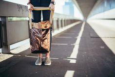 One Plus Me - fashion blog, Jana Maktoczy photography, Uashmama metalic bag Stella Mccartney, Skateboard, Fashion Accessories, Zara, Bronze, Adidas, Posts, Metal, Paper