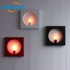 ==> [Free Shipping] Buy Best (EICEO) Creative Modern Minimalist Living Room LED Wall Lamp Bedside Square Frame Background Corridor Decorative Lighting AC220V Online with LOWEST Price   32716200069