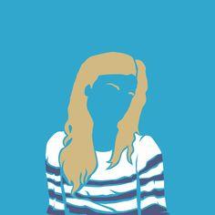 #illustration #color #selfportrait #stripes