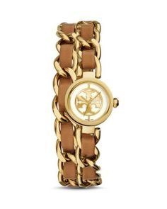 Visit Tory Burch to shop for Reva Mini Chain Double-wrap Watch, Luggage Leather/gold-tone, Mm . Find designer shoes, handbags, clothing & more of this season's latest styles from designer Tory Burch. Leather Chain, Leather Jewelry, Wrap Watches, Jewelry Watches, Tory Burch, Monogram Jewelry, Jewelry Logo, Jewellery, Women's Jewelry