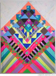 Maya Hayuk - such amazingly beautiful art!!