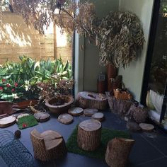 Natural nook in the nursery at Oac Mona Vale.