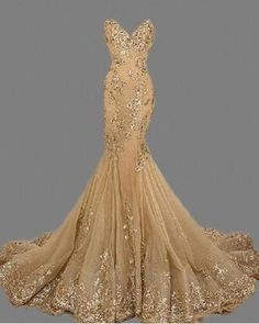Fashion Sexy Gold Sweetheat Long Prom Dress,Handmade Gold Formal Women Evening D. Gold Prom Dresses, Women's Evening Dresses, Mermaid Dresses, Formal Dresses, Gold Formal Dress, Long Gold Dress, Graduation Dresses, Gold Party Dress, Dresses 2016
