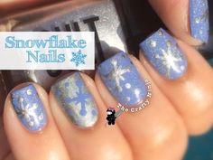 Snowflake Nail Art | The Crafty Ninja