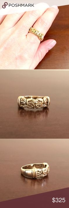 14K Yellow Gold Byzantine Band Ring Everyday great ring in 14K yellow gold with a hand woven byzantine design. Weighs just over 3.5 grams and is a durable well made ring. gently used and well taken care of. Size 6. 🚫Trades🚫PP. 14K Jewelry Rings