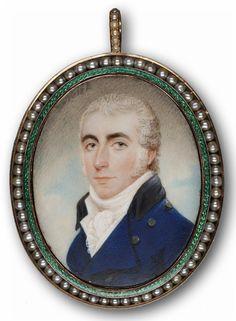 miniture portrait of a dashing gentleman