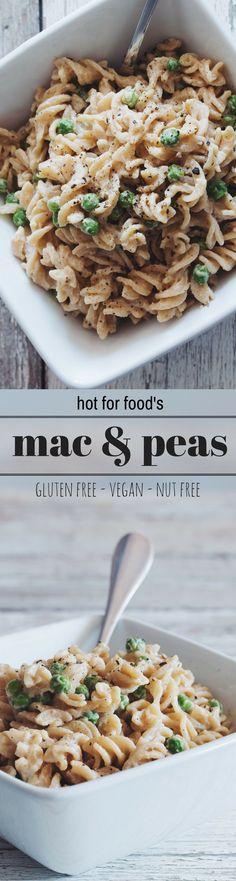 easy vegan mac & peas (gluten-free & nut-free) | RECIPE on hotforfoodblog.com