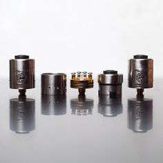 Plume Veil RDA by @aethertech available. The Plume Veil features an adjustable airflow top cap with airflow directly by the coils, as well as airflow by the negative posts. The top cap is removable for convenient dripping and a recessed delrin insulator. Furthermore, the Plume Veil features a 4-post design, easy to build,capable of almost any build imaginable, peek insulators up to 650F, gold plated deck, and negative posts, post holes big enough to fit 22g, and more! Check out atty in ...