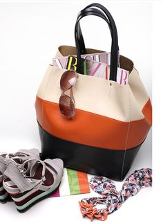 wholesale Large tote bag color blocked casual hot sale for women JM-M1306005902