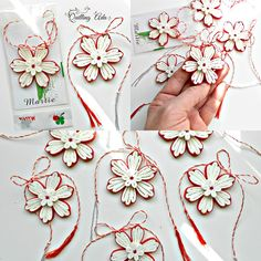 Quilling by Ada: Martisoare alb-rosu Quilling Flowers, Quilling Cards, Paper Flowers, Paper Quilling Tutorial, Quilling Designs, Quilling Ideas, Diy And Crafts, Paper Crafts, Round Design
