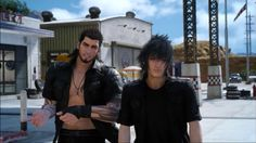 Gladio can't equip firearms so he pretends to in his free time #finalfantasy15 #finalfantasyxv #gladio #noctis