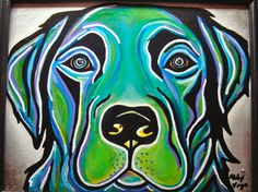 would love to get something like this of our dogs in large scale. Abigail Vega art