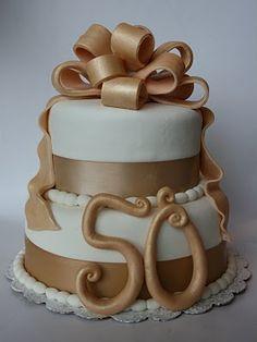Milestone birthday or anniversary cake