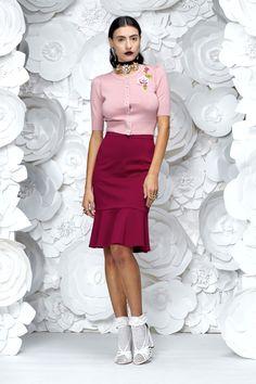 inside 2_pink Waist Skirt, High Waisted Skirt, Work Wardrobe, New Work, Rose, Skirts, Pink, Fashion, Moda