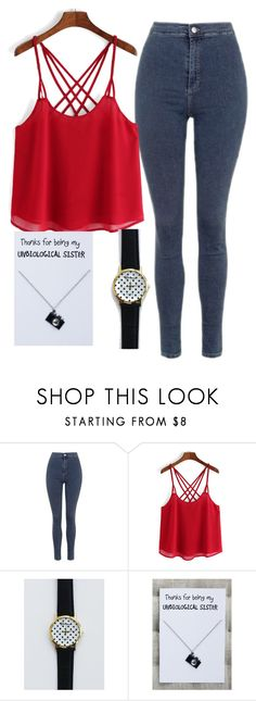 """""""Camera necklace gift card pendant"""" by myfriendshop ❤ liked on Polyvore featuring Topshop"""