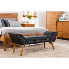 response upholstered bedroom bench db 17 master suite