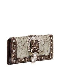 Silver Buckle Wallet w/Rhinestone & Studs by ANYTHINGEVERYTHINGSHOP. $19.99. CHECK OUT MY AMAZON STORE FOR DIFFERENT COLORS AND DIFFERENT STYLES: LUCKYIMPORT2527