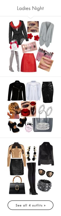 """""""Ladies Night"""" by yortiz1974 ❤ liked on Polyvore featuring Eres, George, Truffle, Chanel, Victoria's Secret, Maybelline, Ghost, Versace, Lanvin and River Island"""