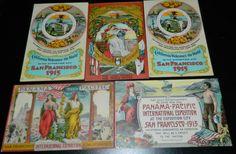 Lot 5 Unused Vintage 1915 Panama Pacific International Expo Postcards EXC Cond   eBay