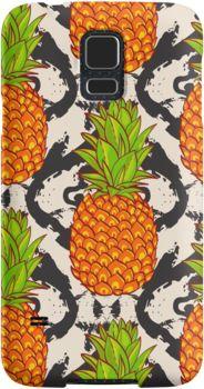 Тропические ананасы фоне бесшовные узор на фоне племенных Ольга Мацкевич