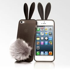 rabbit case with fluffy tail