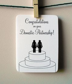 Congratulations on your Domestic Partnership (women) by @4Four Cards on @Etsy!