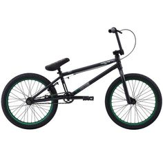 Eastern Bikes Griffin 2013 Edition BMX Bike (Matte Black/Green Rim, 20-Inch) - World of Cycling - The Internet Bicycle Store