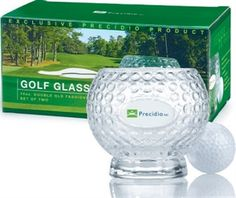 Picture of Set of 2 Golf Glass G4653