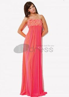 Long Evening Dresses / Attractive Empire Strapless Floor-Length Chiffon Charmeuse Long Evening Dresses / http://www.thdress.com/Attractive-Empire-Strapless-Floor-Length-Chiffon-Charmeuse-Long-Evening-Dresses-p653.html
