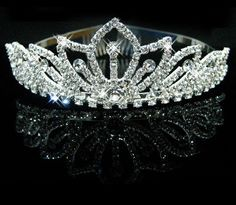 Fashion Pretty Silver Crystal Rhinestone Wedding Headband Tiara Comb Hair Crown