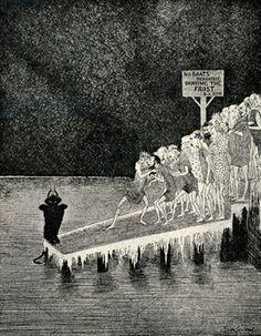 art of sidney sime | Credit: The Banks of the Styx (litho), Sime, Sidney Herbert (1867-1941 ...