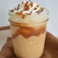Frappé de caramelo o caramel frappuccino www.pizcadesabor.com