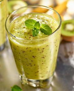 Smoothie z kiwi i miętą #lidl #przepis #smoothie #kiwi #mieta