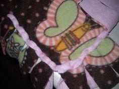The Clevelands: No-sew Fleece Blanket instructions