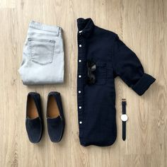 Men Casual Shirt Outfit 🖤 Very Attractive Casual Outfit Grid, Mens Fashion Blog, Fashion Mode, Fashion Outfits, Fasion, Fashion Hats, Style Fashion, Fashion Trends, Smart Casual Men, Business Casual Men
